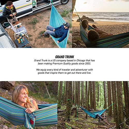 GRAND TRUNK Print Hammock – Double Hammock for Indoor and Outdoor Adventures, Camping, Hiking, and The Beach – Tree Hanging Kit Included, Surf Inspired