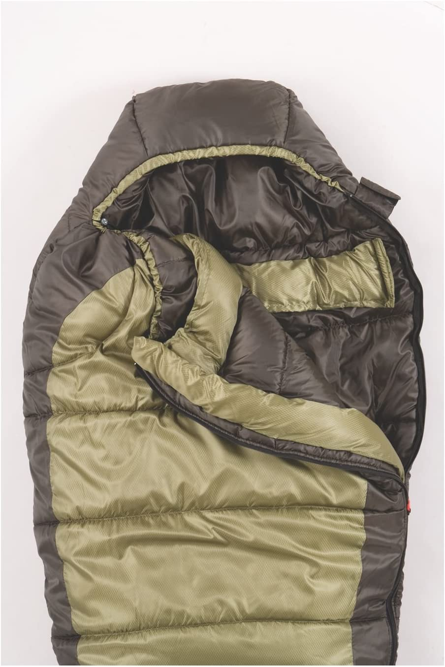 Coleman 0 F Mummy Sleeping Bag for Big and Tall Adults North Rim Cold-Weather Sleeping Bag, Olive