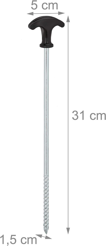 robuste Erdnägel mit Gewinde 48x Zelt-Heringe aus Stahl 17 cm