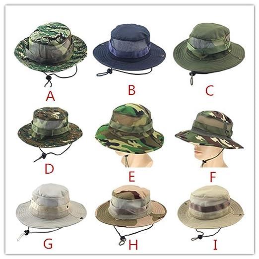 Ron Kite Adjustable Cap Flower Print Boonie Hats Nepalese Cap Army Mens Fisherman Hat