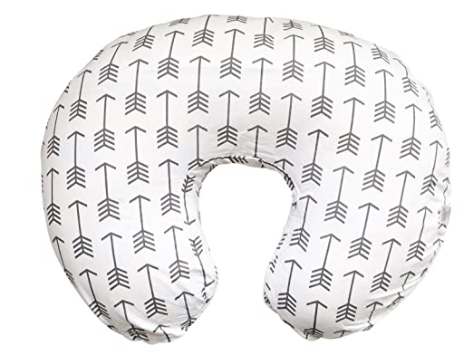 Maternity Breastfeeding Pillow Cover by Danha-Newborn Baby Feeding Cushion Case-Cute Donut Shape Wedge Pillow-Best Infant Support-for New Moms-White Arrow Prints Slipcover