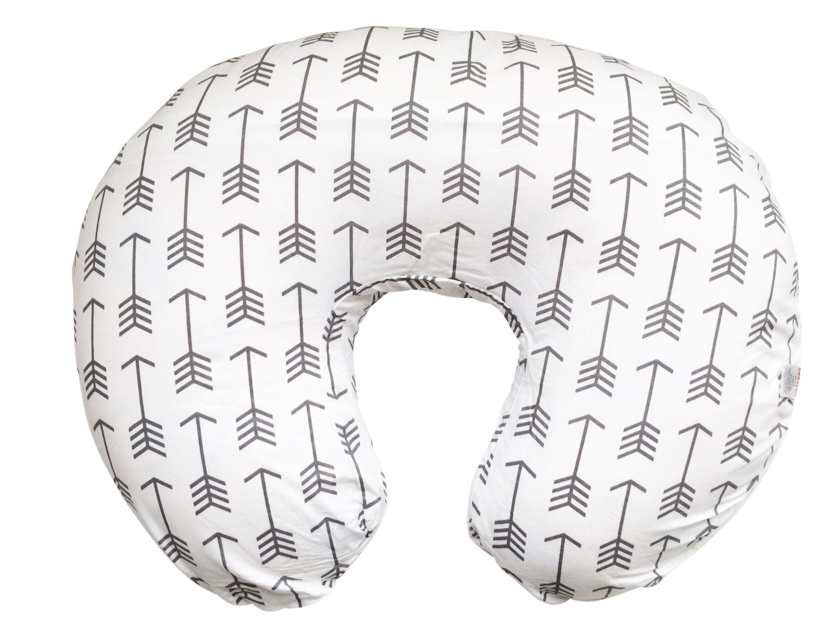 Maternity Breastfeeding Pillow Cover by Danha-Newborn Baby Feeding Cushion Case-Cute Donut Shape Wedge Pillow-Best Infant Support-for New Moms-White Arrow Prints Slipcover by Danha (Image #1)