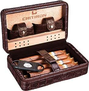 CRITIRON Humidor de Cigarros, Caja Cigarros Bolsa de Viaje