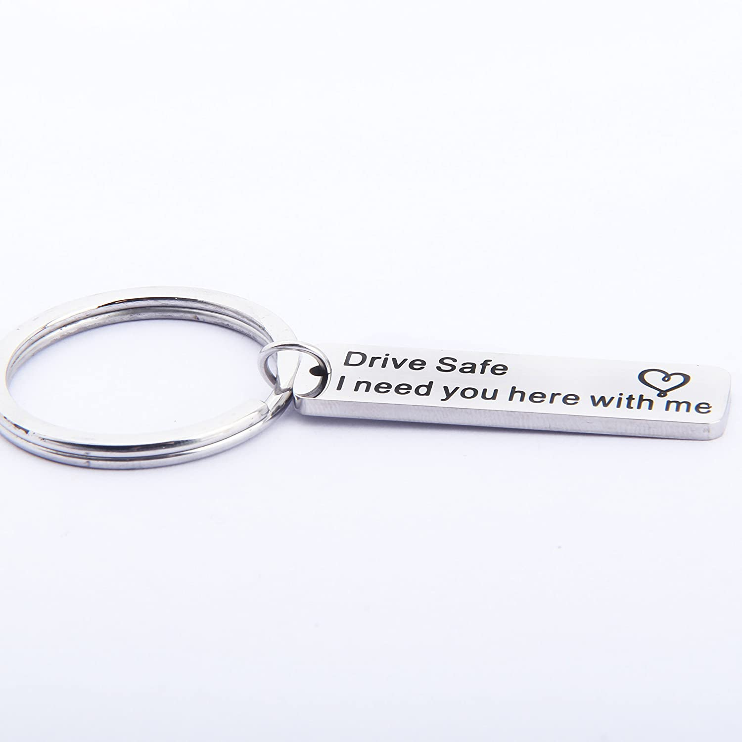 Lywjyb Birdgot Drive Safe I Need You Here with Me Keychain/Necklace New Driver Gift for Her or Him