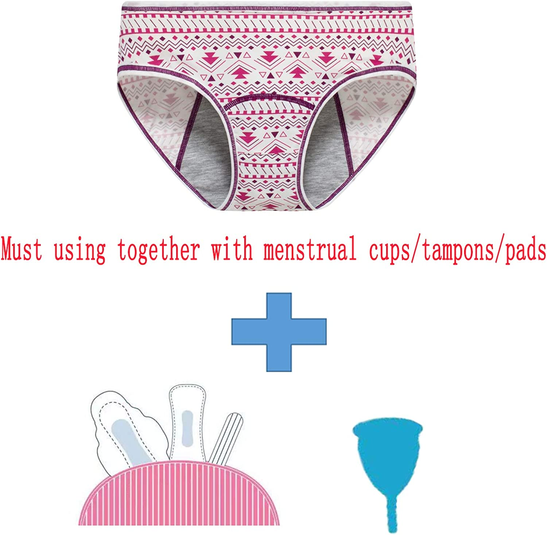 Hahan Teens Cotton Period Underwear Girls Leak Proof Hipster Menstrual Panties Women Postpartum Briefs