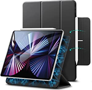 ESR Magnetic Case Compatible with iPad Pro 11 2021/2020/2018, Convenient Magnetic Attachment, Auto Sleep and Wake, Pencil 2 Support, Rebound Series, Black