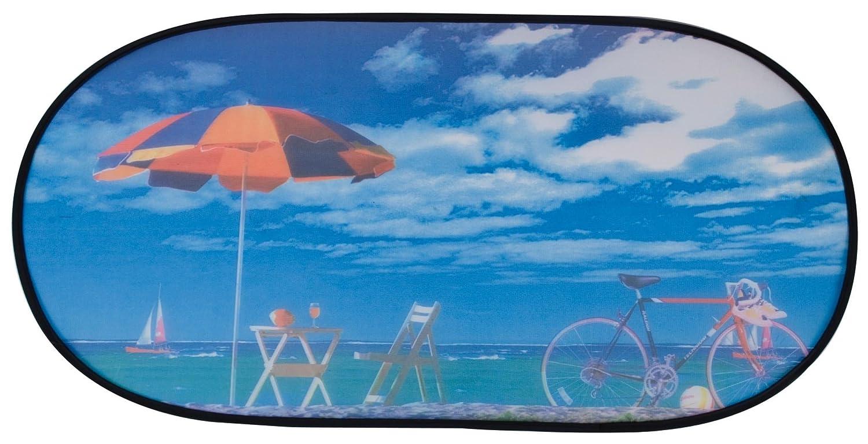 Walser 16707 Tendina parasole per lunotto posteriore, autoaderente 100 x 50 cm fantasia spiaggia Walser GmbH