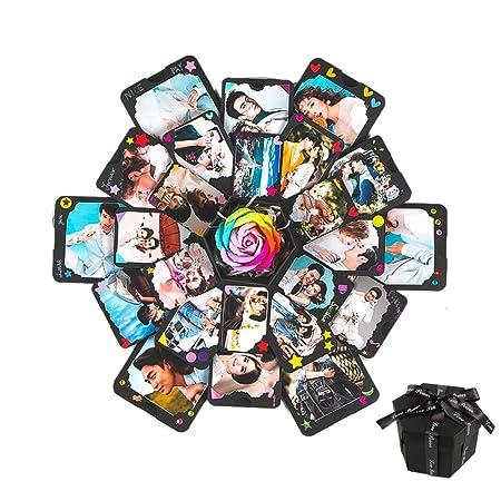 Buoyancy Caja de recuerdos Scrapbook Álbum de recortes de bricolaje creativo álbum de fotos para el aniversario de cumpleaños