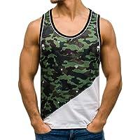 BOLF Herren Tank Top Tankshirt Ärmellos Muskelshirt Basic Motiv 3C3 Mix
