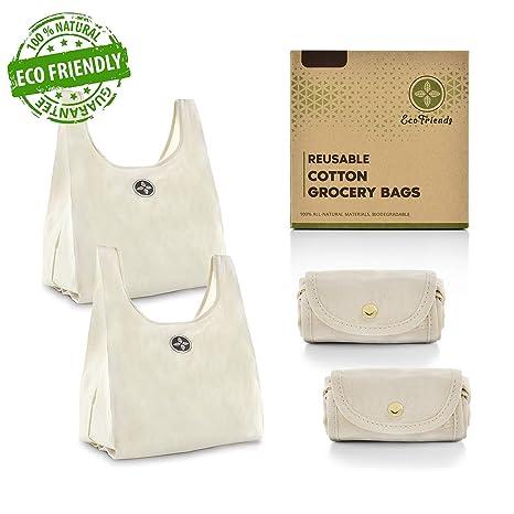 Amazon.com: Bolsas de algodón plegables, bolsas de ...