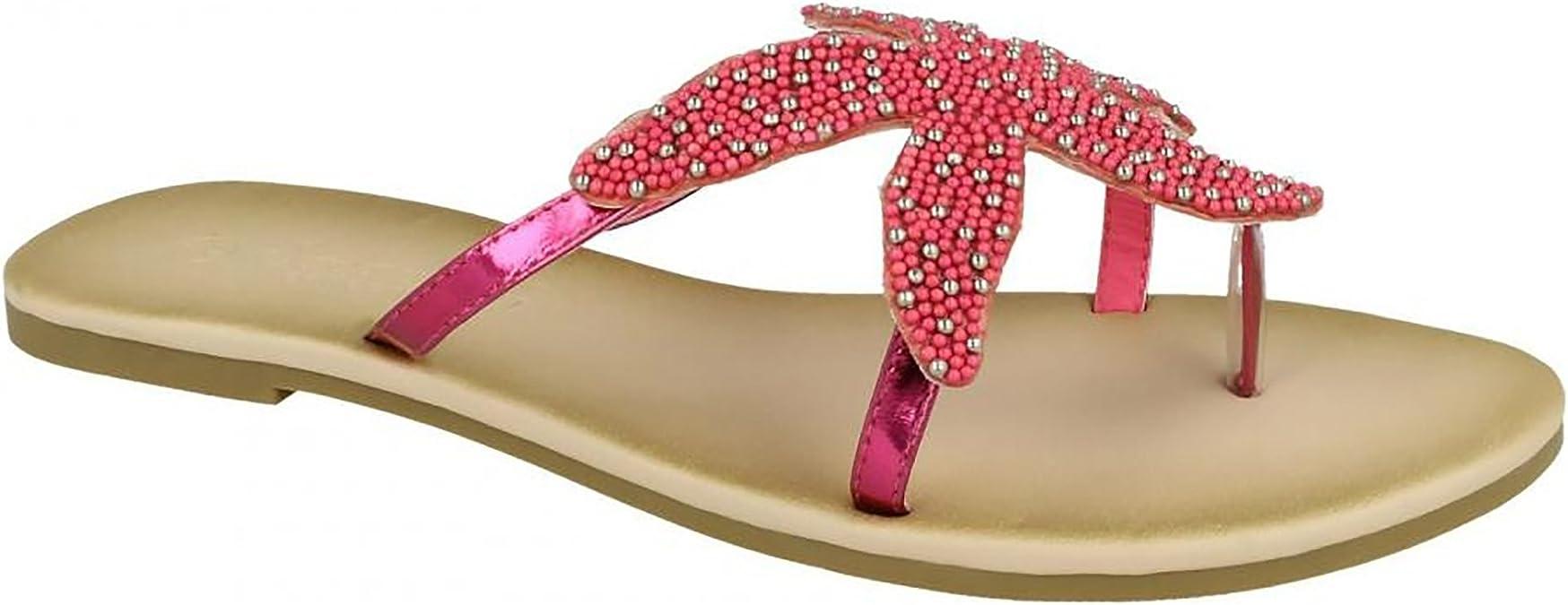 Savannah Beaded Toe Post Ladies Sandals