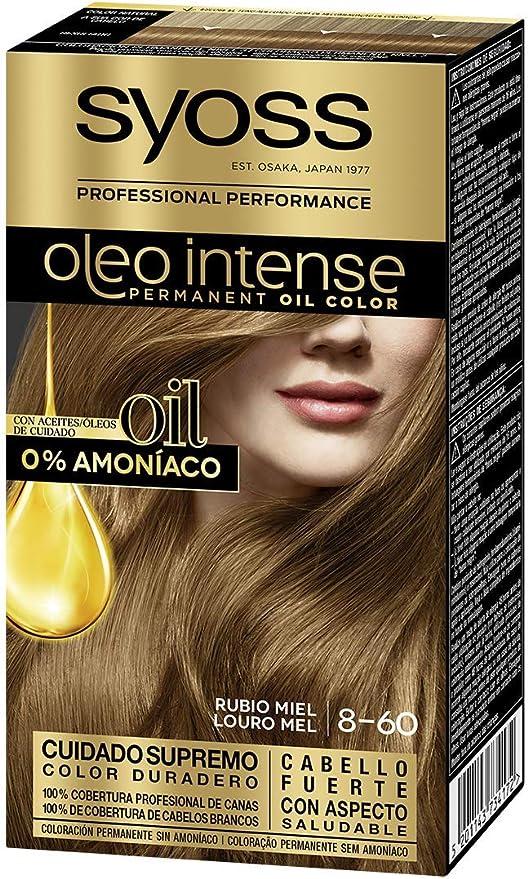 Syoss Oleo Intense - Tono 6-80 Rubio Caramelo – Coloración permanente sin amoníaco – Resultados de peluquería – Cobertura profesional de canas