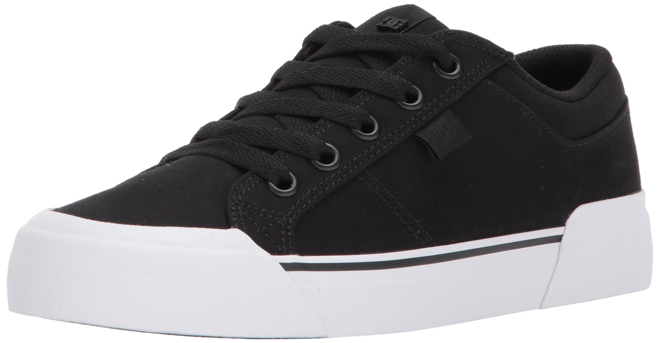 DC Women's Danni TX Skate Shoe, Black, 8 B B US