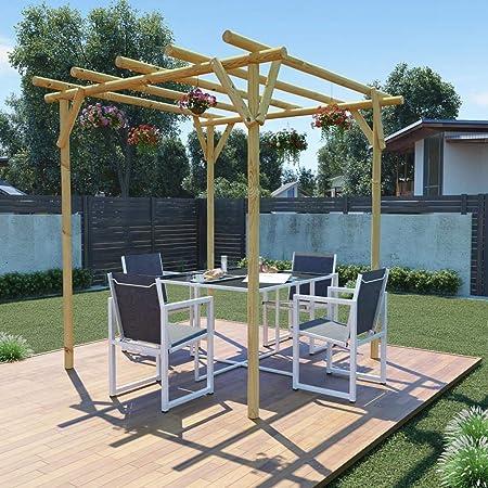 Zora Walter Pérgola de jardín 2x2x2 m Madera de Pino impregnada Estructuras de Exteriores Pérgolas, Arcos y enrejados de jardín: Amazon.es: Jardín