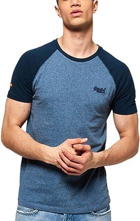 Superdry Herren T-Shirt, Einfarbig Blau Blau Gr. XXXL, Midnight Grit ... e665728cac