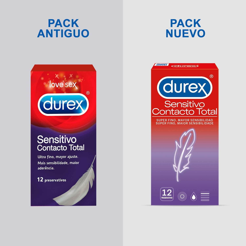 71IlAhNfaCL._AC_SL1500_ Durex Preservativos Super Finos Contacto Total - 12 condones: Salud y cuidado personal