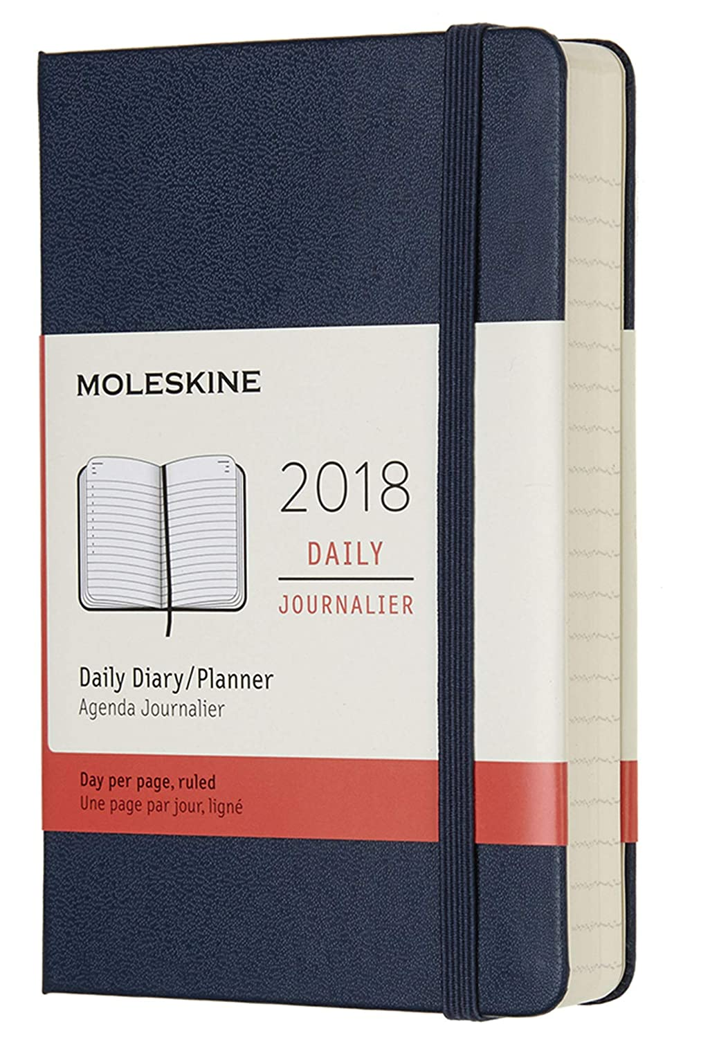 Moleskine 12 Month Daily Planner, Pocket, Sapphire Blue, Hard Cover (3.5 x 5.5)