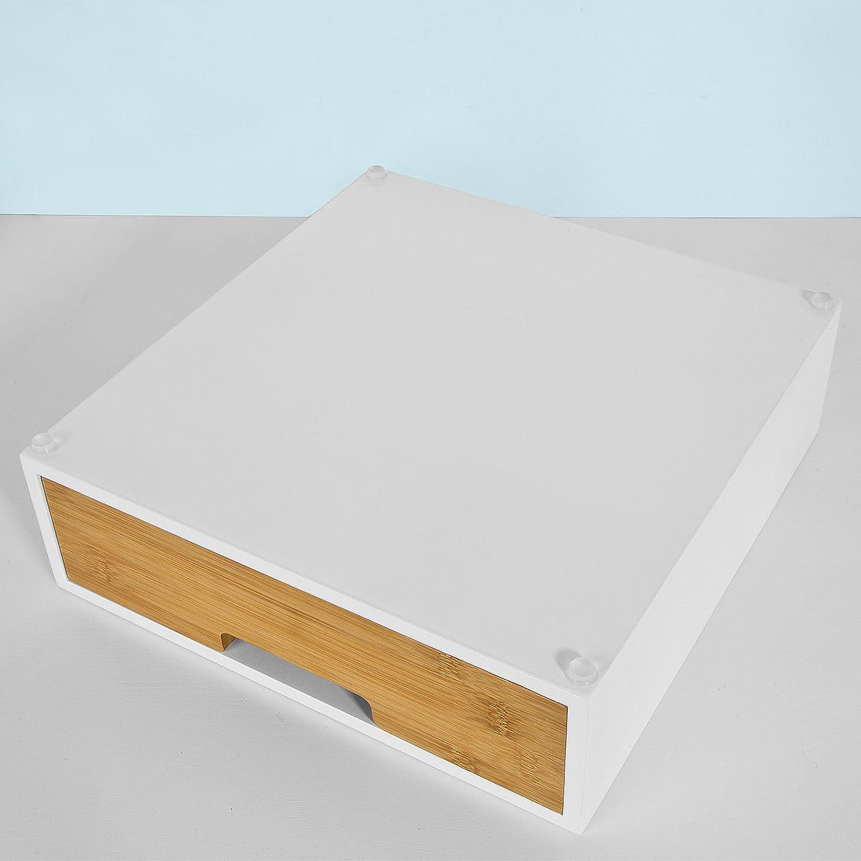 SoBuy/® frg179/de WN Caf/é C/ápsula Caja de Madera DM y bamb/ú dispensador de c/ápsulas c/ápsula Soporte para c/ápsulas c/ápsula Soporte Monitor Soporte Elevador de Monitor con caj/ón