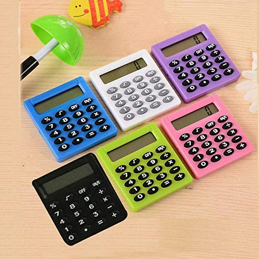 vert Supertool Mini calculatrice /électrique portable pour /étudiant Multicolore 50 mm x 45 mm x 8 mm
