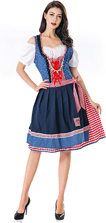 Señoras Oktoberfest Bavarian Beer Maid German Bavarian Fancy Dress ...
