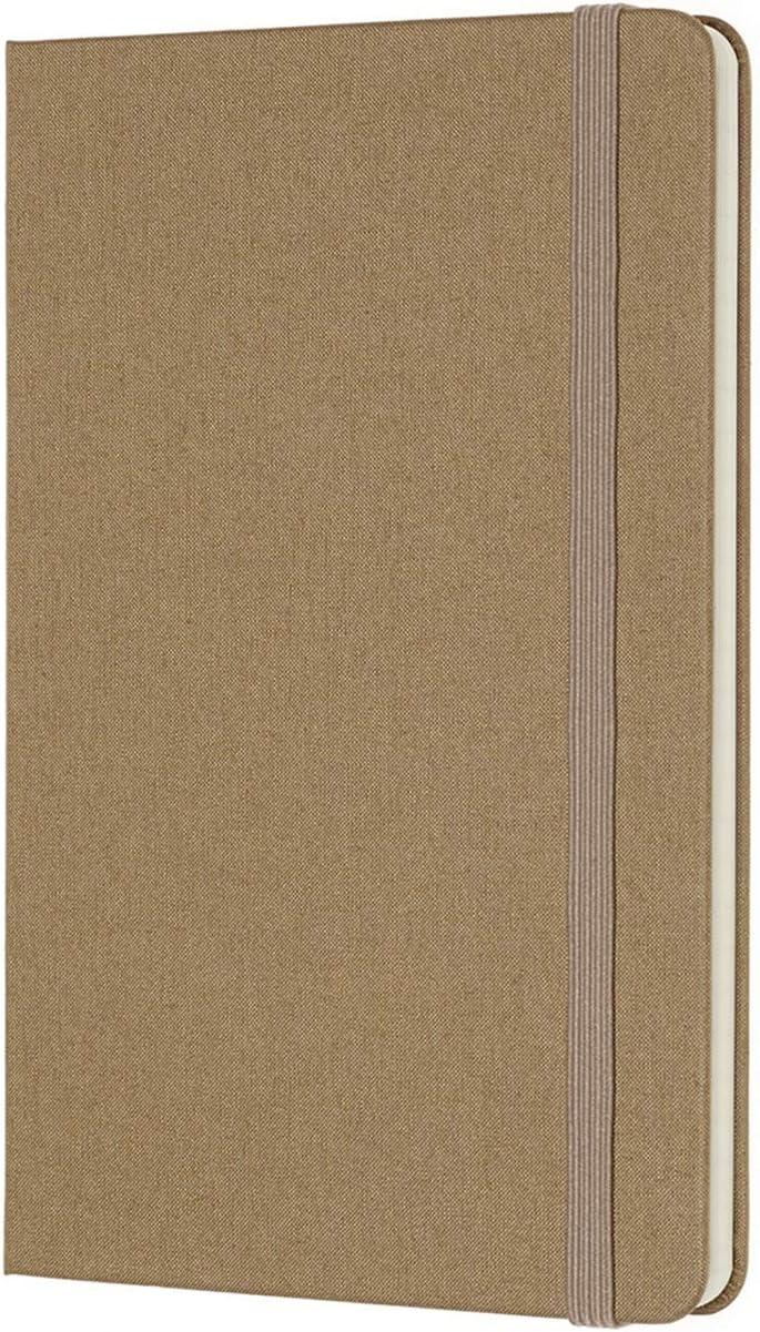 Taccuino Rigida Morbida in Cotone Canvas e Chiusura ad Elastico Colore Marrone Avana Moleskine Notebook Classic Pagina Bianca e a Righe 5 x 18 cm 144 Pagine Dimensione Media 11
