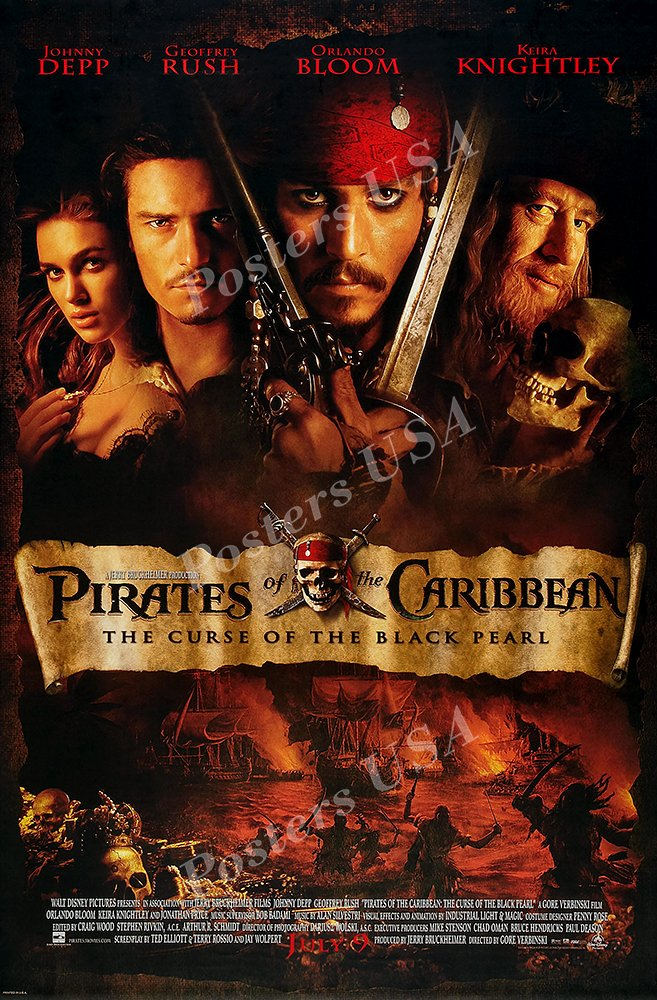 "Posters USA - Disney Classics Pirate of the Carribean The Curse of Black Pearl Poster - DISN125 (24"" x 36"" (61cm x 91.5cm))"