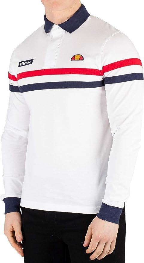 Ellesse Hombre Stevo Manga Larga Poloshirt, Blanco: Amazon.es ...