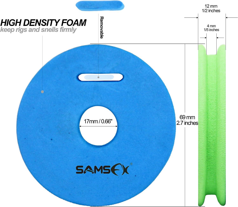en mousse Accessoires de rangement Porte bobine et plioir /à bas de ligne pour p/êche /à la mouche SAMSFX