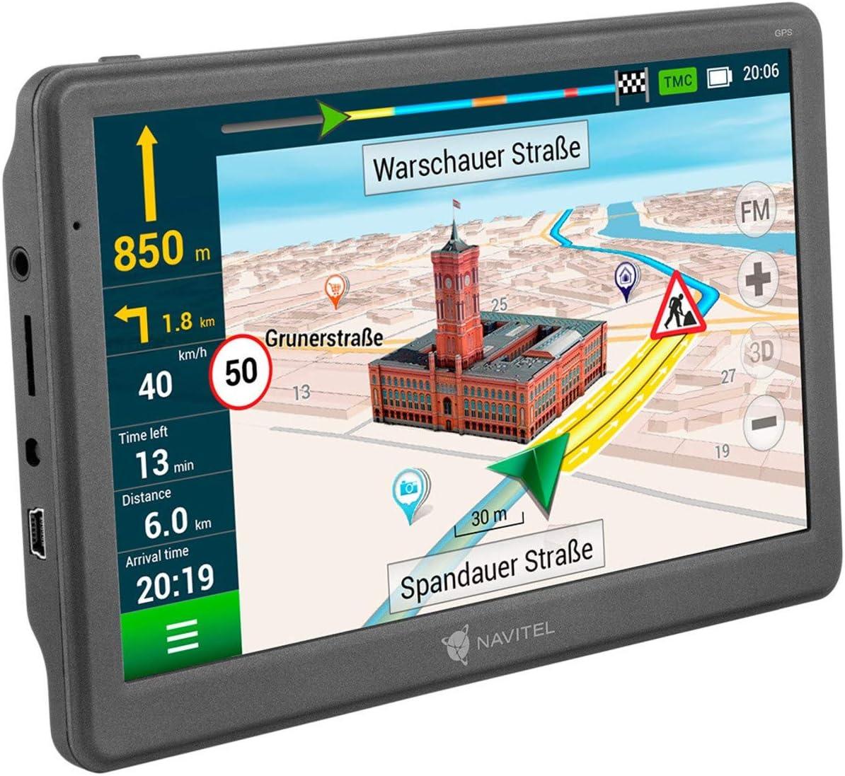 Navigationsger/ät // 7 Zoll//EU 47 Karten Liftime Updates kostenfrei//TMC//POI//Blitzerwarner//Sprachf/ührung//Spurassistent Navitel E700T GPS Navi