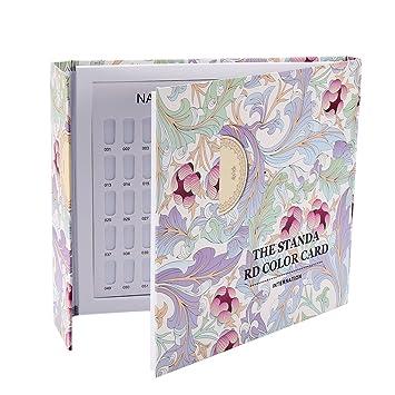 Amazon.com: Tarjeta de color de uñas, 2 tipos de 120 colores ...