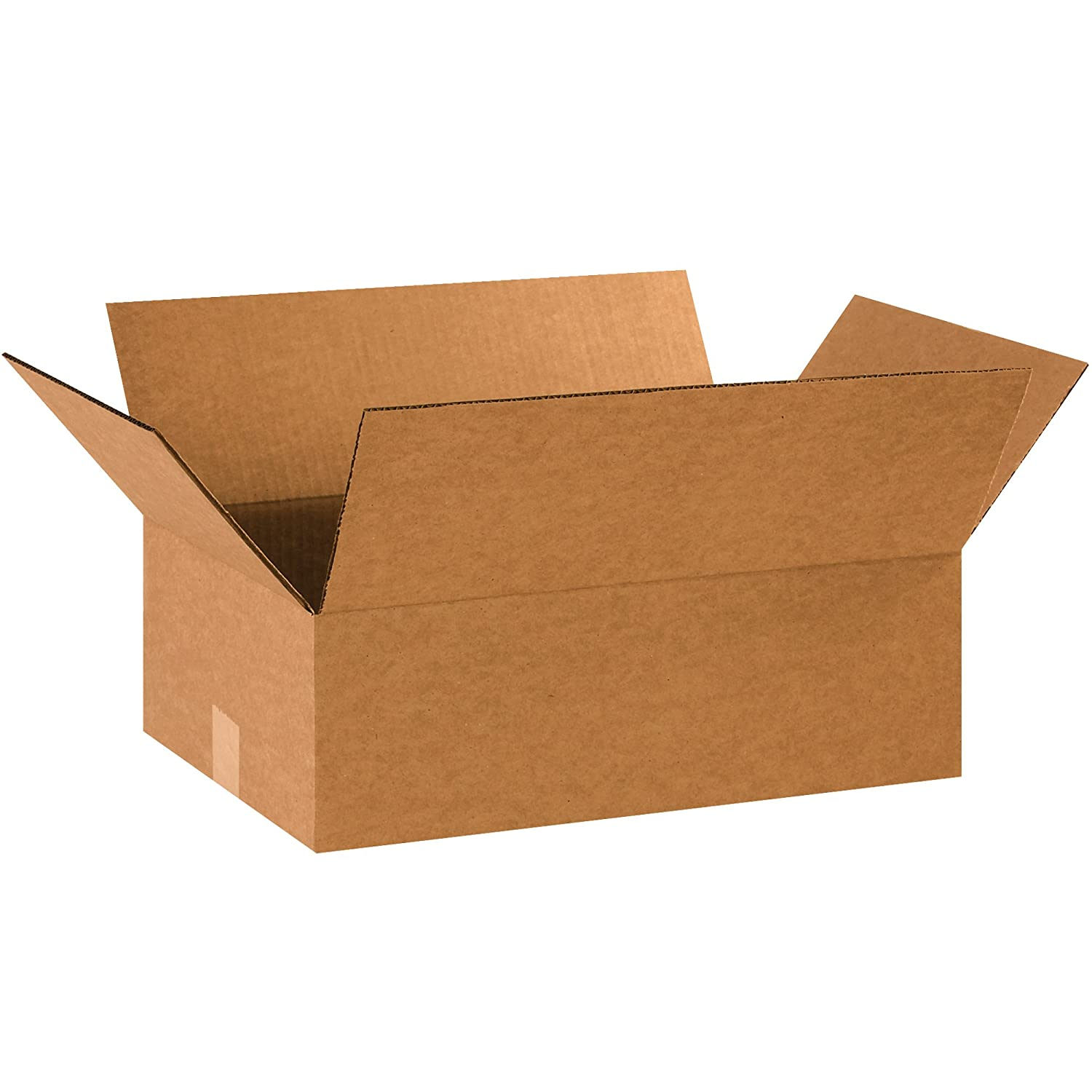 Flat Corrugated Boxes 25//Bundle Kraft 13 x 13 x 6