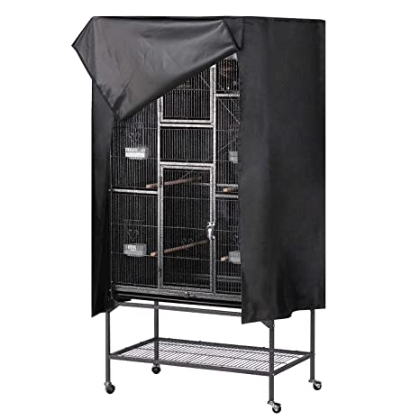 0a71984a321d Topeakmart Black Large Bird Cage Good Night Bird Cage Cover Breathable &  Washable