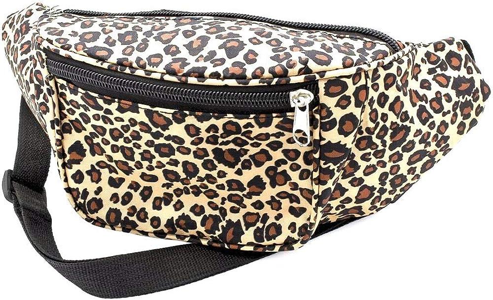 Leopard Print Fabric Bum BagFanny Pack Club WearParty Wear
