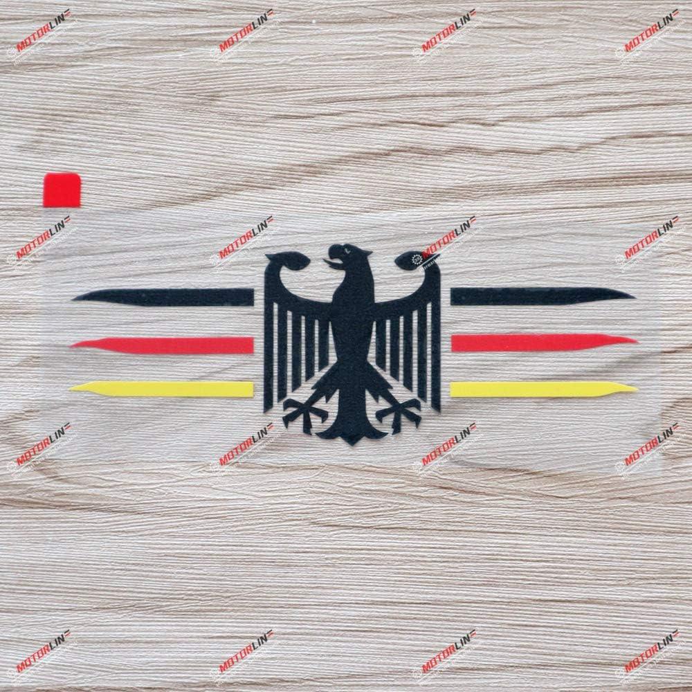 3S MOTORLINE 6 German Eagle Decal Sticker Coat of Arms of Germany Deutschland German Flag Color Vinyl Die Cut no Background