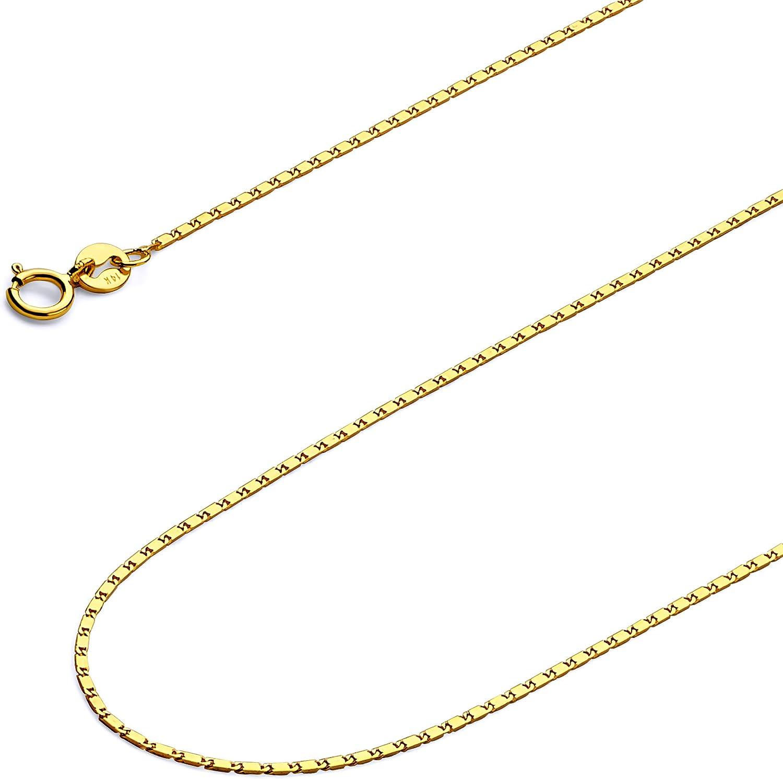 Brilliant Bijou 14k White Gold 1mm Pendant Chain Bracelet