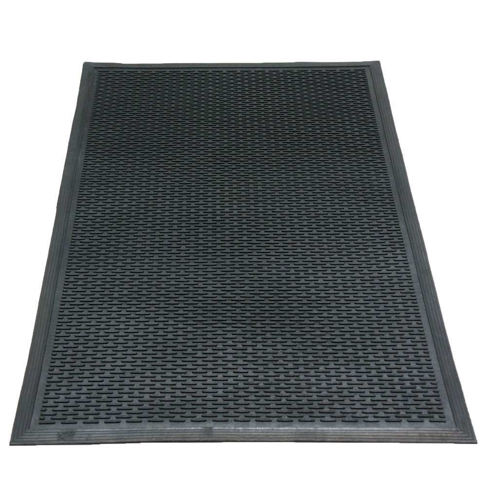 Rubber-Cal 03-239-LI''DuraScraper Linear'' Commercial Rubber Entrance Door Mat, 3/8'' Thick x 36'' x 60'', Black by Rubber-Cal