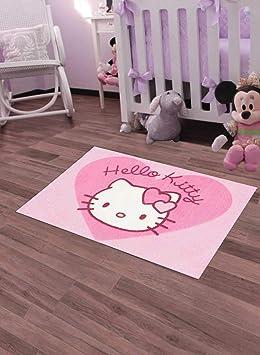 Unamourdetapis Tapis Chambre 30 Hello Kitty Rose 50 X 80 Cm Tapis Enfant Et  Disney