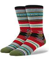 Stance Men's Guadalupe Tribal Stripe Pattern Arch Support Classic Crew Sock