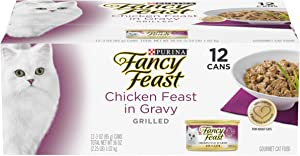 Purina Fancy Feast Gravy Wet Cat Food, Grilled Chicken Feast in Gravy - (12) 3 oz. Cans