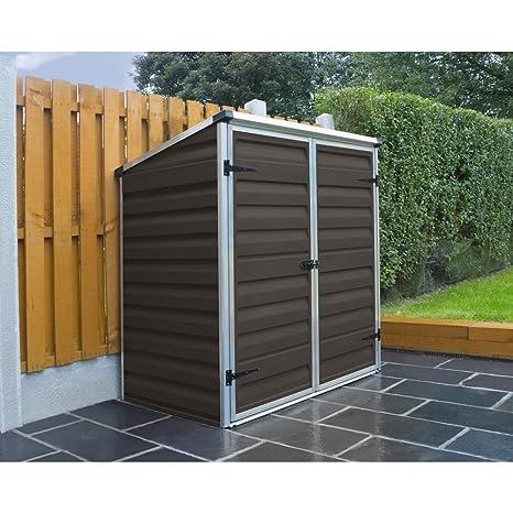 Caseta para contenedores de Palram Voyager - para cubos de basura, color marrón