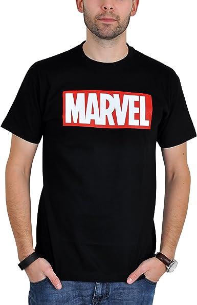 Camiseta con logotipo de Marvel para fans de los cómics color negro: Amazon.es: Ropa y accesorios