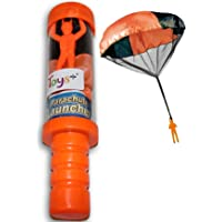 Toys+ Skydiver Parachute Man with Launcher Container Tangle Free (Colors and Styles May Vary)