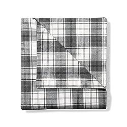 Eddie Bauer Unisex-Adult Flannel Duvet Cover - Pattern, Gray HTR Full Queen FL/Q