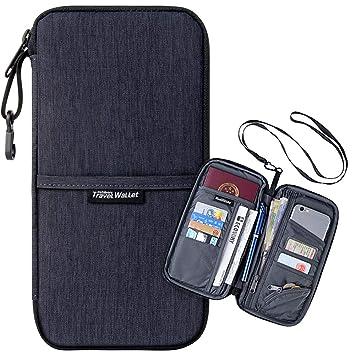 8913346901ab Travel Passport Wallet with Rfid Blocking - Luxsure Multi-purpose Passport  Holder Waterproof Ticket Card Bag Document Organizer Holder (Fashion Black)