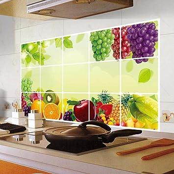 Pegatinas de pared Pegatinas de pared extraíbles a prueba de aceite de la cocina Art Decor Home Decal Decoración del hogar Xinantime: Amazon.es: Coche y ...
