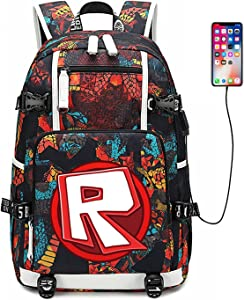 Multifunctional and convenient backpack, casual fashion bag, casual daily-use laptop backpack with USB charging port (Backpack-R)