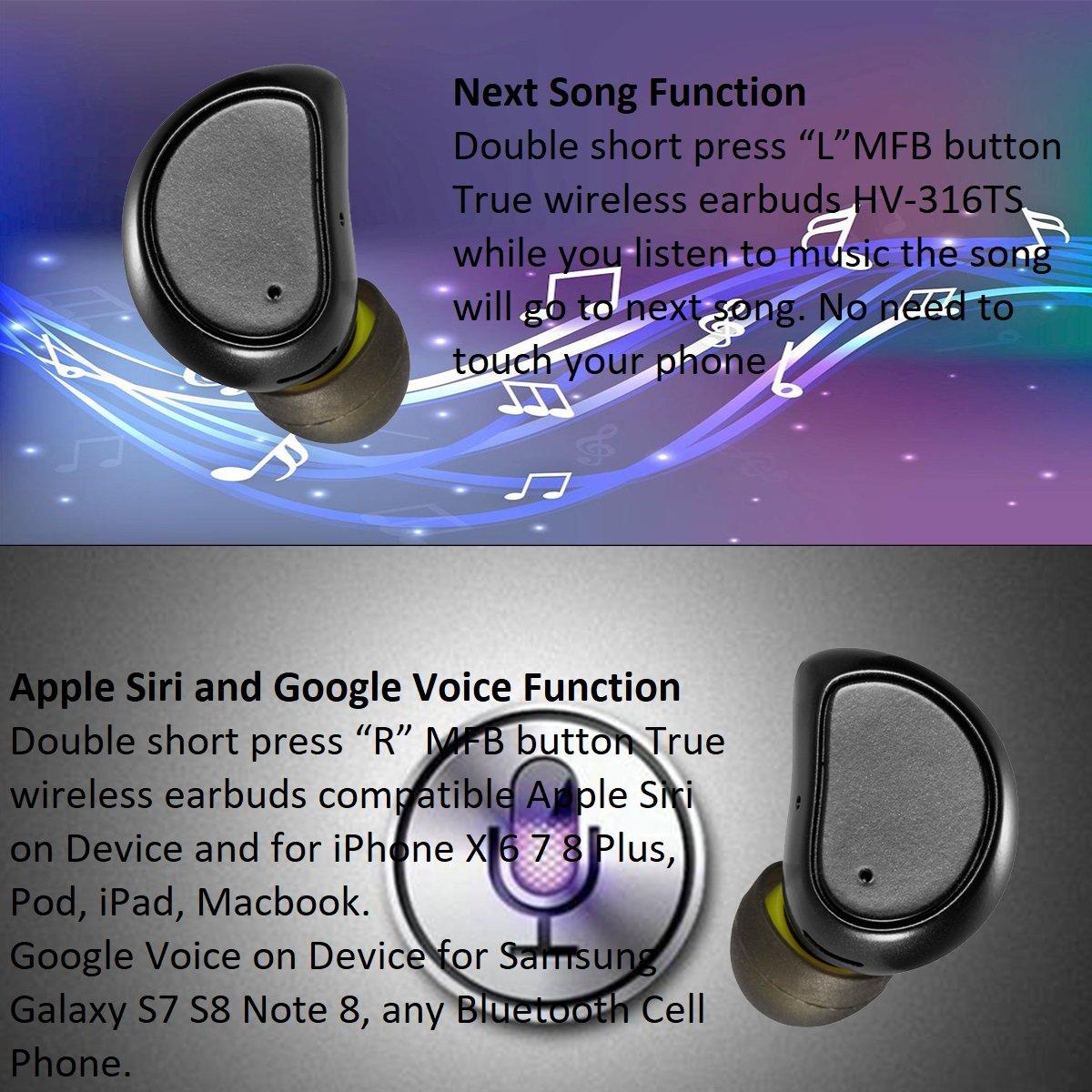 Siguiente Canción función auriculares Bluetooth inalámbrico inalámbrica Bluetooth auriculares con micrófono cancelación de ruido auriculares a prueba de ...