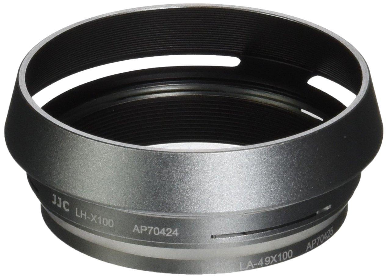 JJC LH-JX100 Silver Filter Lens Adapter & Hood For Fuji Finepix X100 X100s X100T Camera AS AR-X100 by JJC