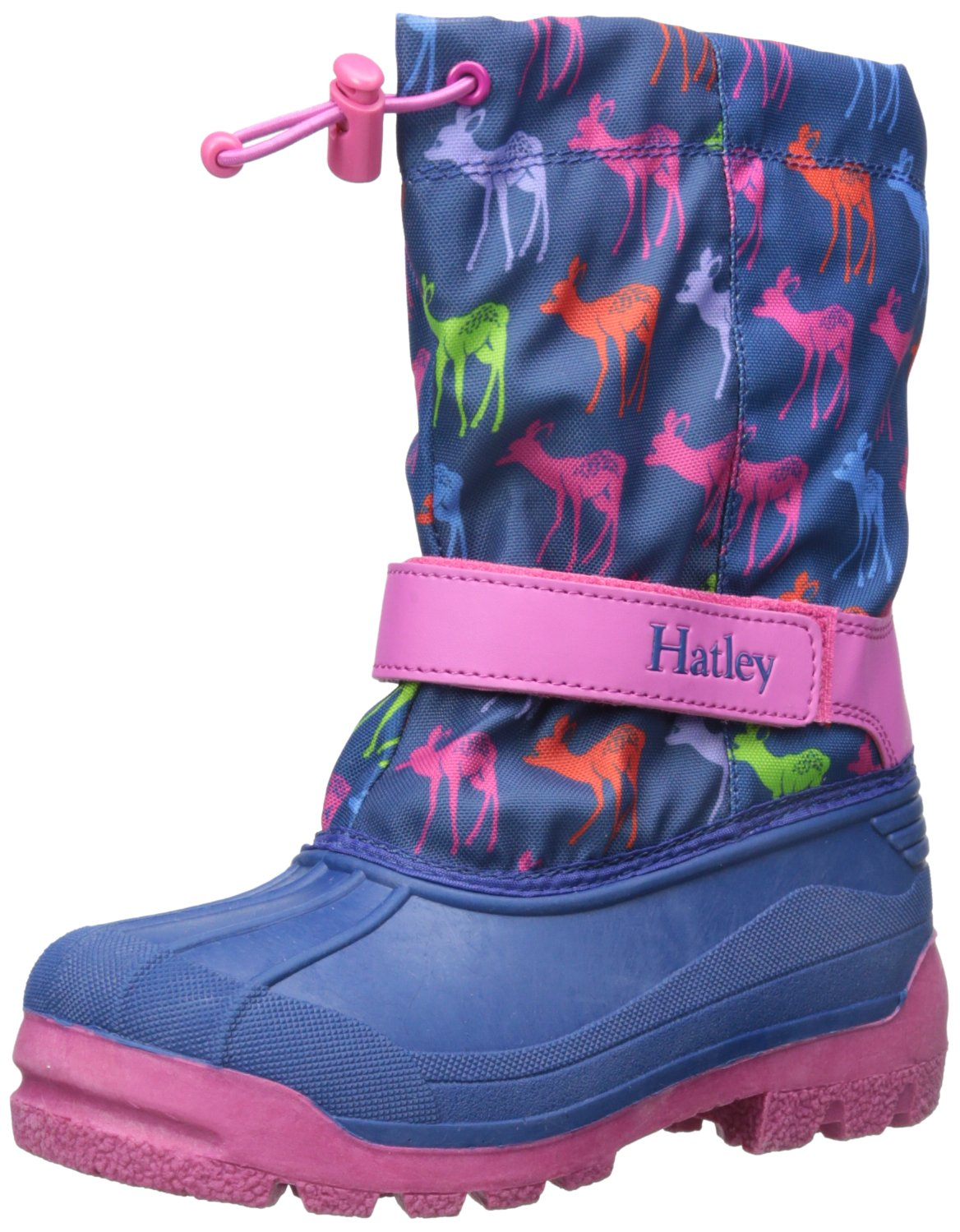 Hatley Girls' Winter Boots-Graphic Deers, Blue, 3