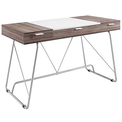 Modern office desk white White Glossy Image Unavailable Amazoncom Amazoncom America Luxury Desks Modern Contemporary Office Desk